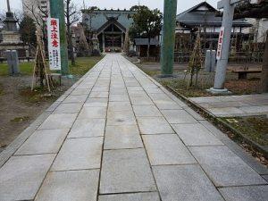 平潟神社参道修復工事完成写真