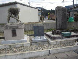 長岡市桂地区にある敢闘の像