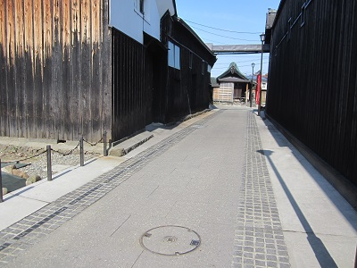 長岡市摂田屋地区の旧三国街道美装化工事完成写真