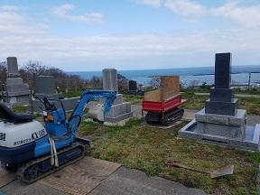 海が見える墓地です